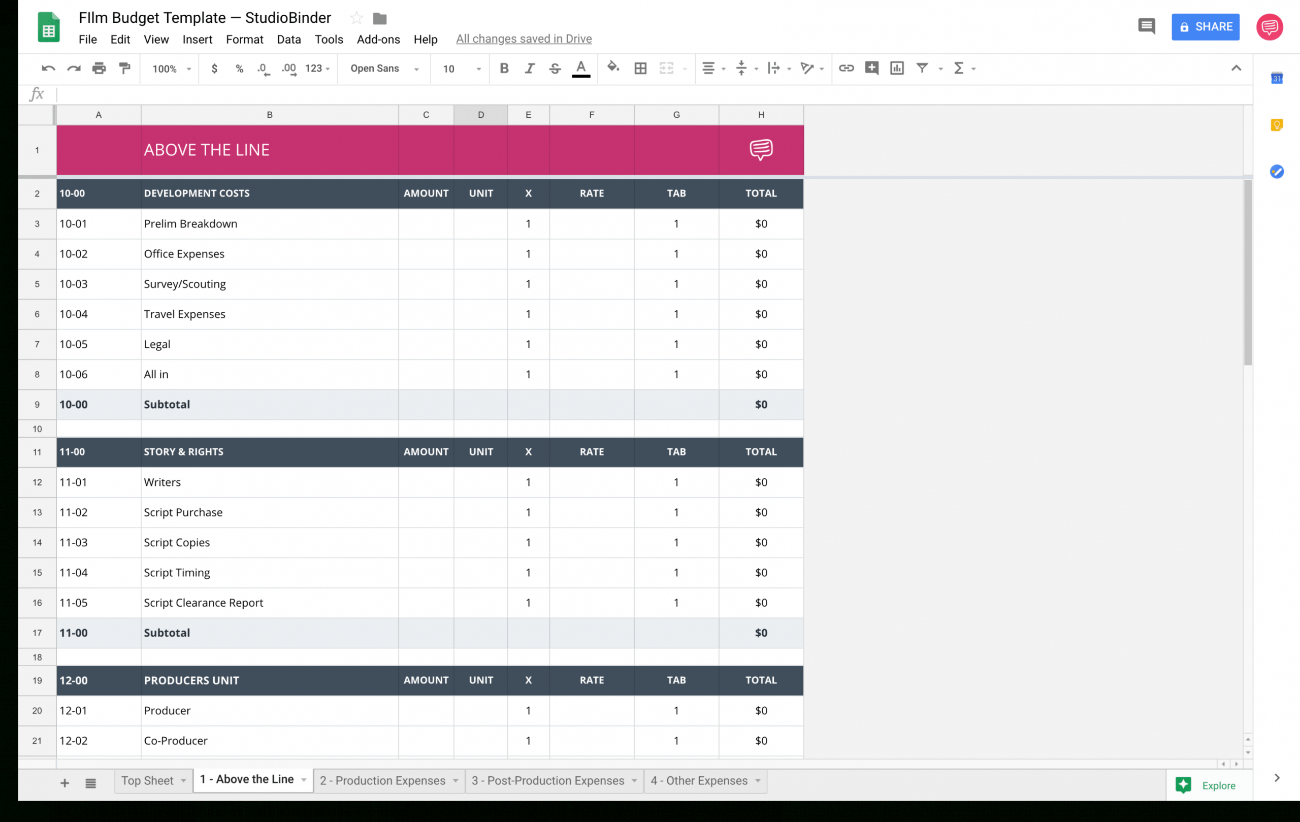 sample download your free film budget template for film & video independent film budget template