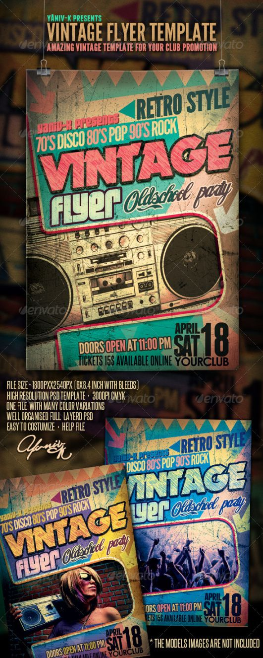 vintage flyer template old school flyer template and sample