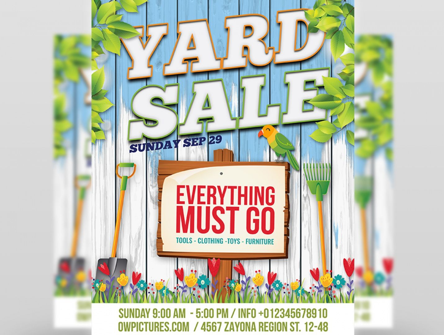 yard sale  garage sales flyer template by owpictures on moving sale flyer template