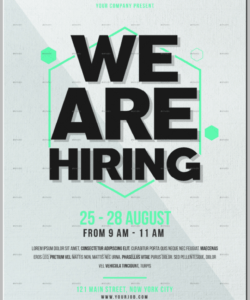 14 job flyer designs & templates  psd ai  free & premium now hiring template flyer and sample
