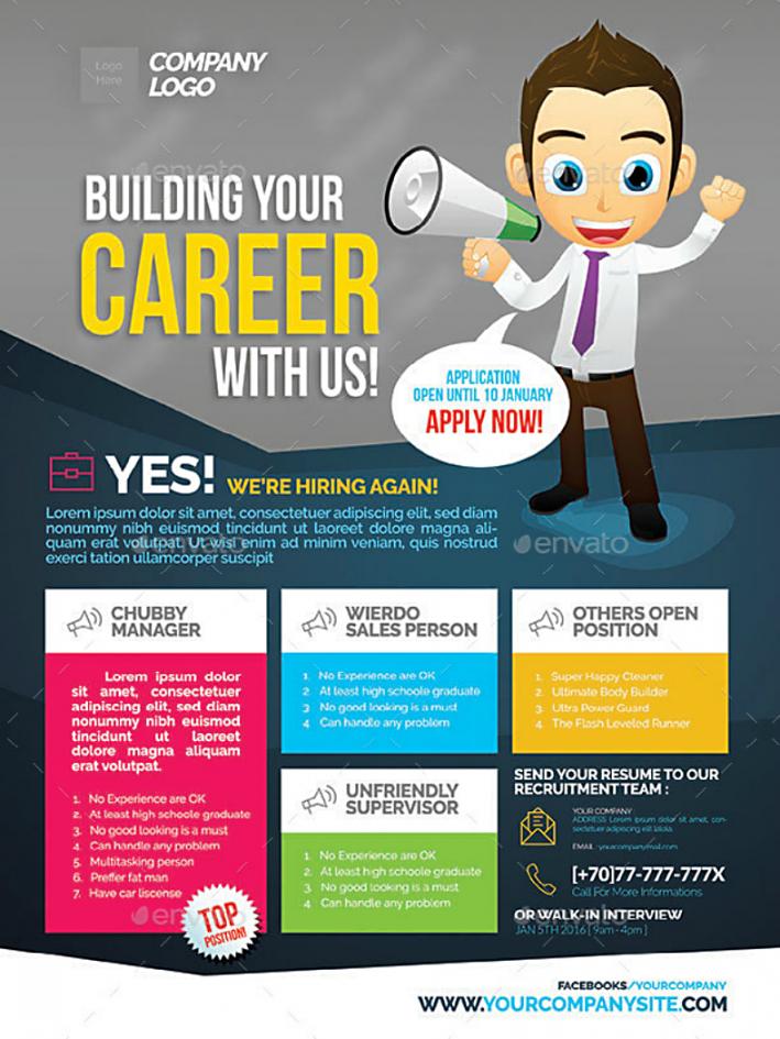 14 job flyer designs & templates  psd ai  free & premium now hiring template flyer pdf
