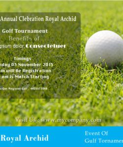 15 free golf tournament flyer templates  fundraiser golf tournament fundraiser flyer template and sample