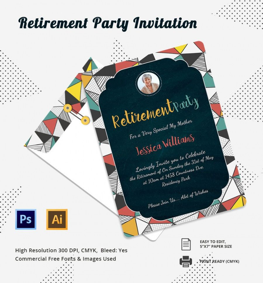 30 retirement invitation templates  psd ai word  free retirement announcement flyer template and sample