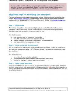 47 job description templates & examples ᐅ templatelab professional job description template doc