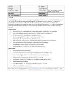 49 free job description templates & examples  free template post job description template and sample