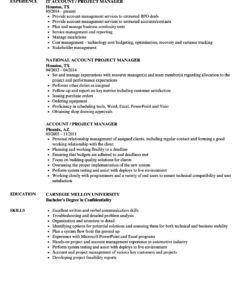 account  project manager resume samples  velvet jobs national account manager job description template doc