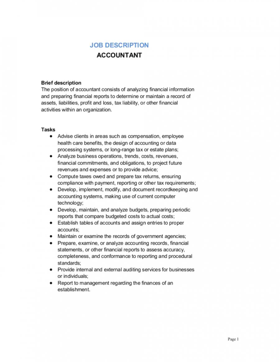 accountant job description template  by businessinabox™ accounting manager job description template doc