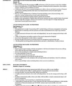 accounting manager  supervisor resume samples  velvet jobs accounting manager job description template