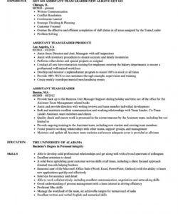 assistant team leader resume samples  velvet jobs team leader job description template and sample