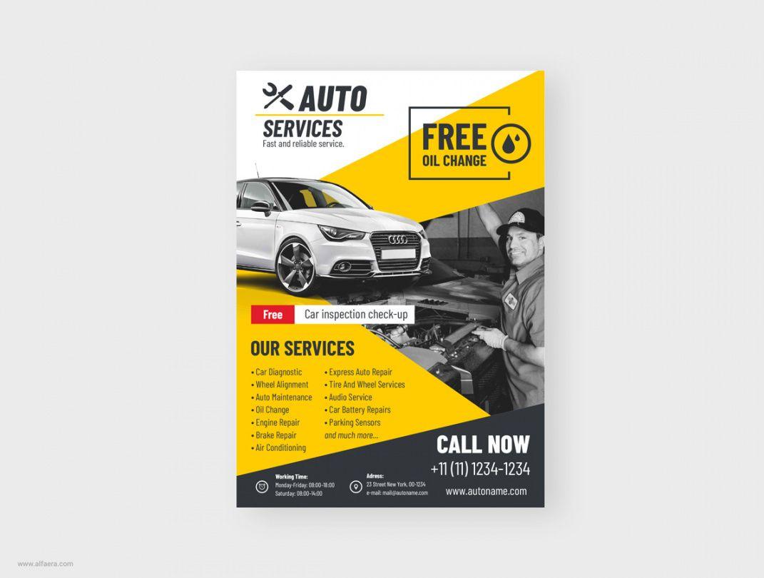 auto flyer template coreldraw auto shop flyer template pdf