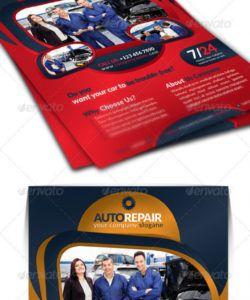 auto repair business flyer auto shop flyer template doc