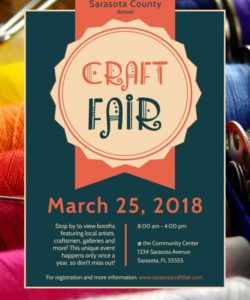 awesome craft fair flyer template  mycreativeshop craft show flyer template and sample