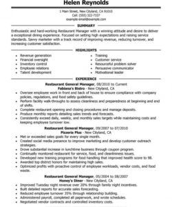 best restaurant manager resume example  livecareer restaurant manager job description template pdf