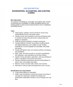 bookkeeping accounting and auditing clerk job description accounting job description template pdf