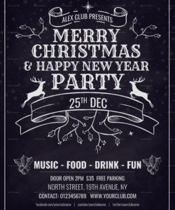christmas party invitation flyer template in adobe photoshop party invitation flyer template pdf