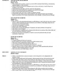 dump truck driver resume samples  velvet jobs truck driver job description template pdf