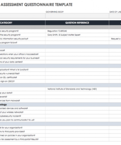 editable free vendor risk assessment templates  smartsheet vendor management checklist template