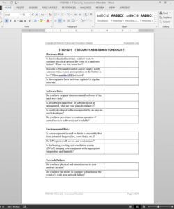 editable it security assessment checklist template  itsd1021 information technology audit checklist template doc