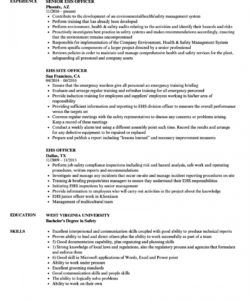ehs officer resume samples  velvet jobs safety officer job description template and sample