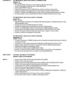 environment health & safety resume samples  velvet jobs safety officer job description template pdf