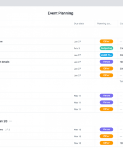 event planning template  checklist timeline & budget · asana corporate event planning checklist template examples