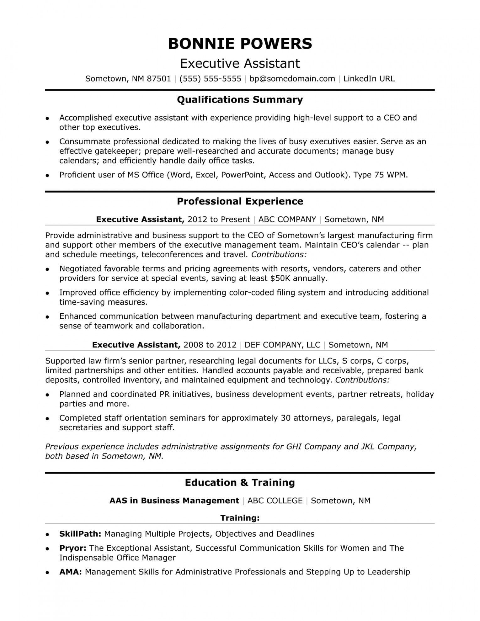 Administrative Assistant Job Description Examples  FREE 30+ Sample ...