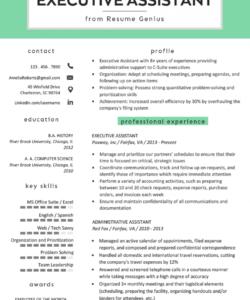 executive assistant resume example & writing tips  rg executive assistant job description template