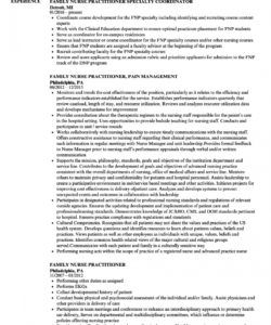 family nurse practitioner resume samples  velvet jobs nurse practitioner job description template