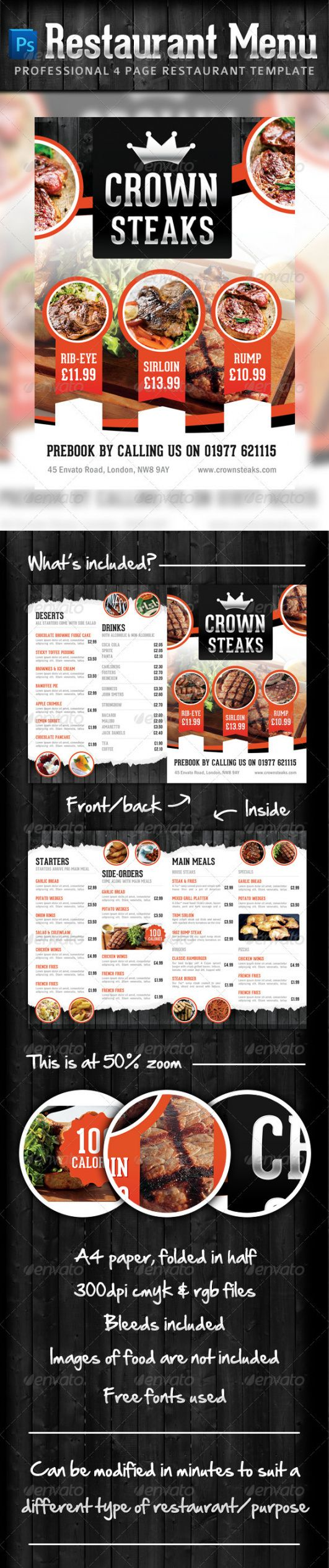 fast food graphics designs & templates from graphicriver modern restaurant food menu flyer template
