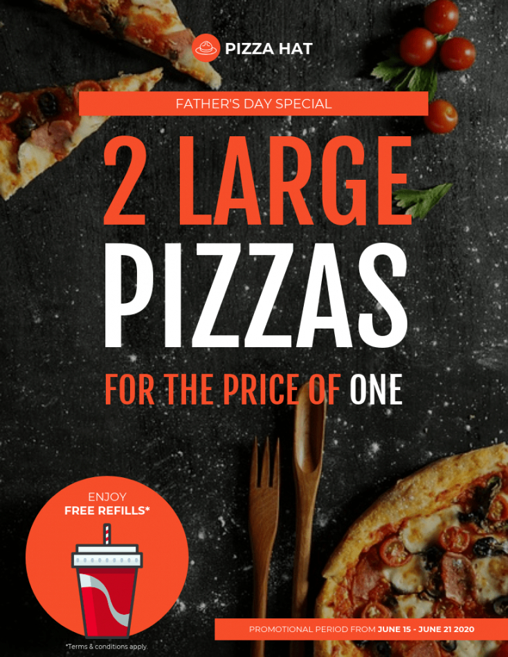 father's day pizza flyer template pizza fundraiser flyer template pdf