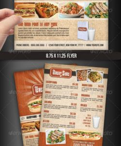 flyer menu templates from graphicriver modern restaurant food menu flyer template