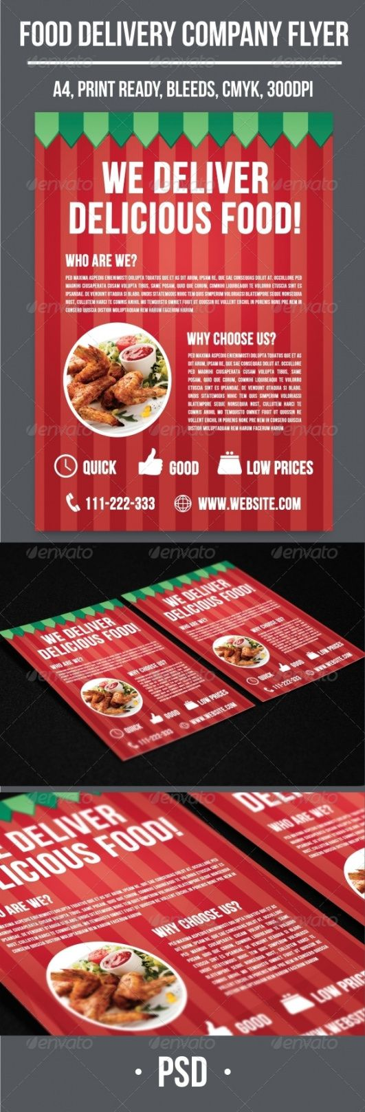food delivery company flyer food delivery flyer template