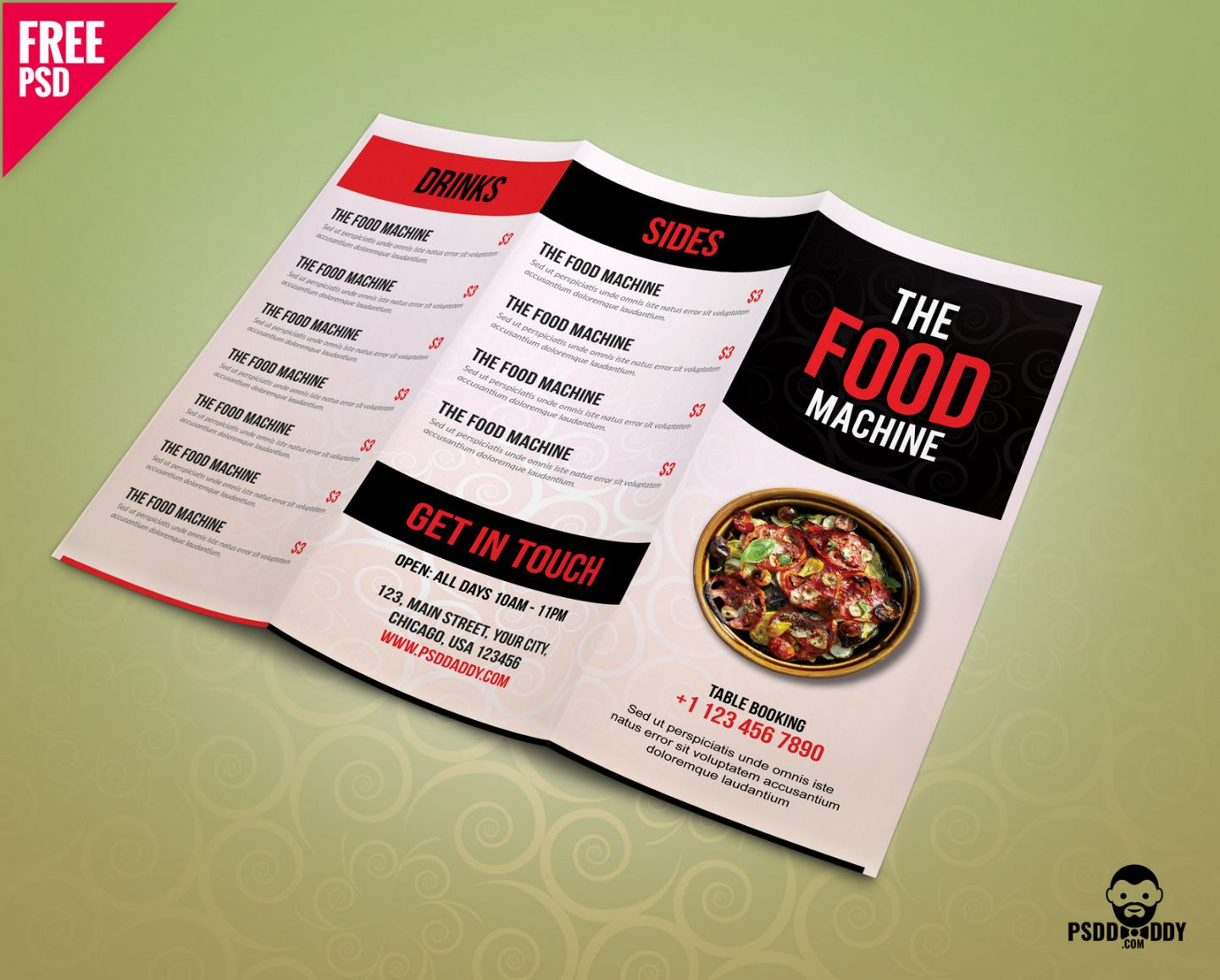 free 40 restaurant  food menu design psd templates  decolore modern restaurant food menu flyer template pdf