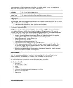 free 47 job description templates & examples ᐅ templatelab formal job description template and sample
