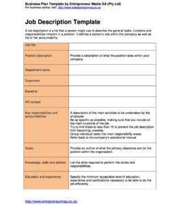 free 47 job description templates & examples ᐅ templatelab professional job description template