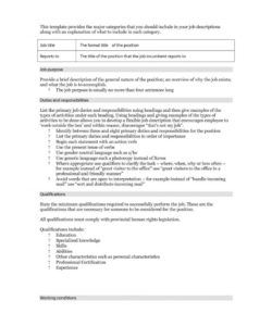 free 49 free job description templates & examples  free template formal job description template
