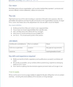 free 6 free job description templates  download & start hiring modern job description template pdf