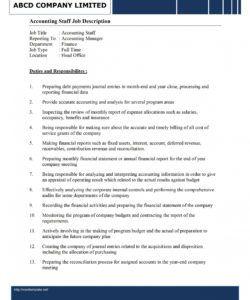 free accounting staff job description template accounting job description template and sample