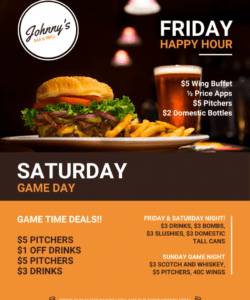 free bar restaurant flyer new restaurant flyer template doc