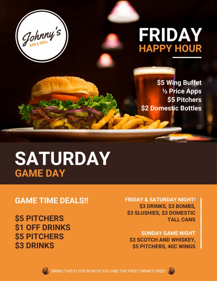 free bar restaurant flyer new restaurant flyer template doc