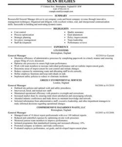 free best general manager resume example  livecareer general manager job description template doc