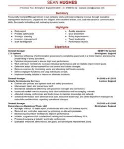 free best general manager resume example  livecareer general manager job description template pdf