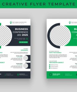 free business conference flyer template design  download free meeting announcement flyer template doc