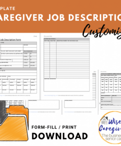 free caregiver job description form template caregiver job description template and sample