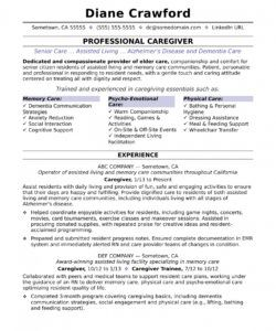 free caregiver resume sample  monster caregiver job description template and sample