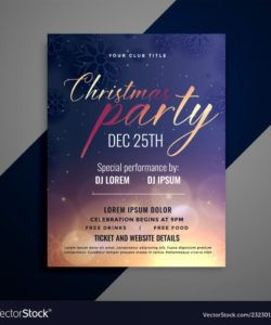free christmas party invitation flyer template design vector image party invitation flyer template doc