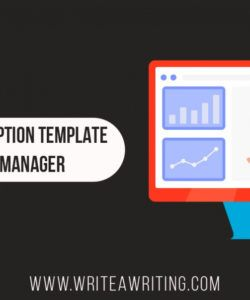 free content manager — job description  by write a writing content manager job description template