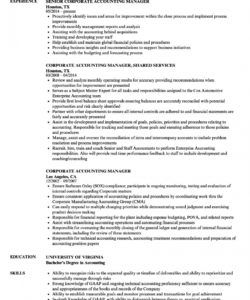 free corporate accounting manager resume samples  velvet jobs accounting manager job description template doc
