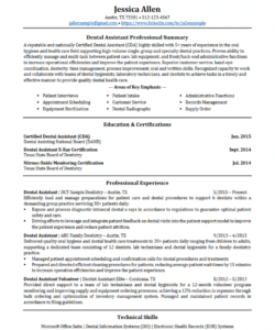 free dental assistant resume  resumego dental assistant job description template and sample