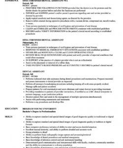 free dental assistant resume samples  velvet jobs dental assistant job description template and sample